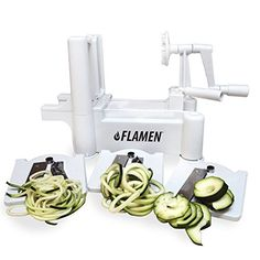 GOT IT! Paderno World Cuisine A4982799 Tri-Blade Plastic Spiral Vegetable Slicer GOT IT!