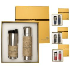 Promotional Casablanca Thermal Bottle & Tumbler Gift Set Item #LG-9370 (Min Qty: 4). Customize your Promotional Drinkware Sets with your company logo and with no setup fees.