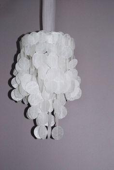 Wax Paper Chandelier.