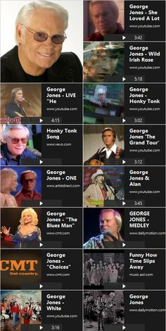 George Jones Music Videos: George Jones is one of the greatest country music…