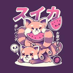 Japanese Pop Art, Watermelon Art, Japon Illustration, Fox Design, Design Shop, Small Art, Kawaii Art, Art Logo, Sell Your Art