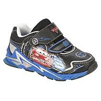 Disney Boy's Cars Blue and Black Light-Up Sneakers
