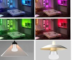KWB 10W E27 RGB + Neutral White LED Bulb Color Changing Light - Gold