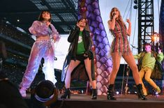 Charli XCX Camila Cabello and Taylor Swift performs on stage during her reputation Stadium Tour at Croke Park on June 15 2018 in Dublin Ireland Taylor Swift Web, Taylor Alison Swift, Film Jurassic World, Croke Park, Stadium Tour, Charli Xcx, Chris Pratt, Matching Icons, Vanity Fair