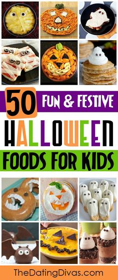 So many fun and creative Halloween food ideas including recipes for breakfast, lunch, dinner, snacks, AND dessert! Perfect for a Halloween party or some family fun.