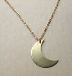 Brass moon necklace from little pancakes for $30.00 Moon Necklace, Arrow Necklace, Renegade Craft Fair, Crown Jewels, Craft Fairs, Pancakes, Brass, Jewellery, Chain
