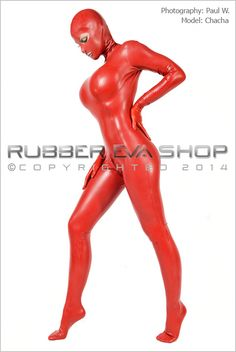 Ladies Hooded Rubber Total Enclosure Catsuit - Rubber Catsuits - Rubber Eva Shop