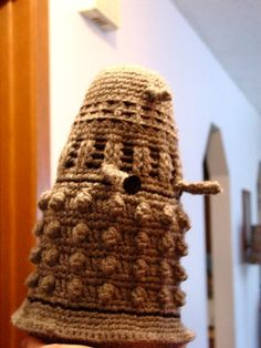 Dalek Crochet Pattern by A.M. Downs Free Pattern (scroll down on the listing): http://www.etsy.com/listing/5927584/dalek-crochet-pattern  #TheCrochetLounge #DrWho Collection