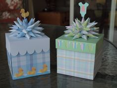 Explosion Boxes for Baby Shower