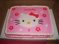 Birthday Cakes - Hello Kitty cake