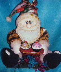 Noel invitando cupcakes