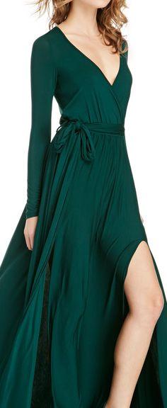 Emerald wrap dress