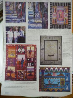 My Quilt featured in The Fabrications Magazine after being exhibited in the Malvern Quilt Exhibition