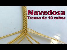 "Novedosa trenza de 10 redonda ""El Rincón del Soguero"" - YouTube Paracord Knots, 550 Paracord, Plait, Videos, Braids, Homemade, Learning, Youtube, Leather"