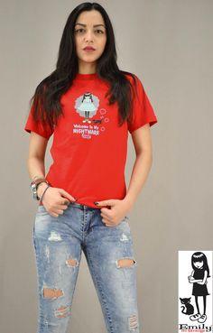 Γυναικείο t-shirt Emily Strange Nightmare Emily Strange, T Shirt, Tops, Women, Fashion, Supreme T Shirt, Moda, Tee Shirt, Fashion Styles