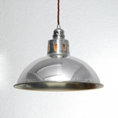 Vintage Industrial Factory Lamps - Large & Small - Aluminium light Retro