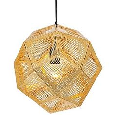 Etch Pendant by Tom Dixon    love the idea of gray and brass