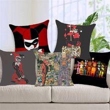 Natal Harry Quinn Chucky e Coringa capas de Almofada de Poliéster sequin travesseiro capa para Sofá cama Nórdico fronha decorativo(China)