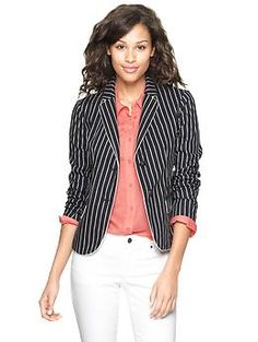Striped twill academy blazer | Gap $88.00