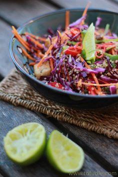 Spiced Tofu, Quinoa & Shiitake Mushroom Salad