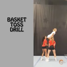 "CheerIQ on Instagram: ""A drill you have to try before actually throwing a basket‼️ . With this drill flyers learn how to stay in their load in position, how to…"""