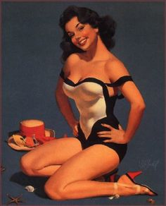 Brunette Pin up by Arty Goodgirl, via Flickr