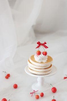 さくらんぼのパンケーキ | フェイクスイーツとクレイケーキ&ウェデイングアイテムの販売 大阪・Atelier Fairy*の手仕事綴り…