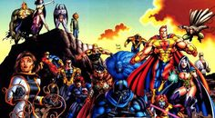 "The Ultraforce is a superhero team. Their purpose was to protect the public and keep other Ultras from getting out of line. The membership consisted of various ""ultras"" (superheroes) in the Ultraverse, including the super-strong Prime; Topaz, warrior queen of Gwendor; Prototype, Ultra-Tech's armored spokesperson; the undead Ghoul, the last surviving member of the Exiles.Hardcase, one of the first public Ultras; and the mysterious Contrary, who organized the team and provided their technology"