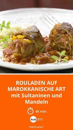 Rouladen auf marokkanische Art - mit Sultaninen und Mandeln - smarter - Kalorien: 511 Kcal - Zeit: 45 Min.   eatsmarter.de