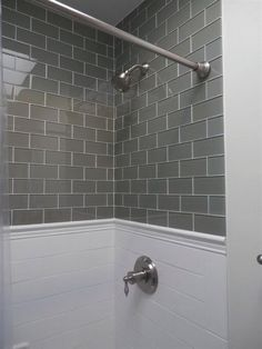 Tiled Bathrooms And Showers tile above shower surround | bathroom | pinterest | shower