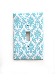 Blue Damask Switchplate Cover Home Decor