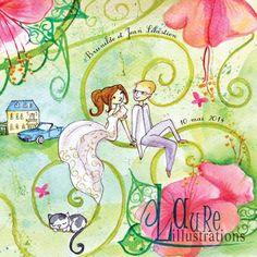 annonce de mariage à l'aquarelle Ptit blog d'une illustratrice jeunesse Laure Phelipon