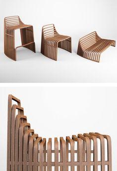 Wooden #chair by VIDAME CREATION | #design Julien Vidame #wood