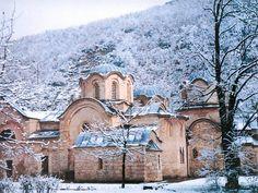 Patriarchate of Pec, Kosovo, Serbia; church of the Holy Apostles, dates to the century. Byzantine Architecture, Regions Of Europe, Temple, Serbian, Macedonia, Albania, Eastern Europe, Montenegro, Beautiful World