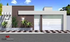 56 ideas house facade render home for 2019 House Gate Design, Facade Design, Fence Design, Modern House Design, Exterior Design, Boundry Wall, Front Wall Design, Compound Wall Design, Tor Design