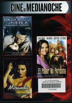 MAIG-2013. Pasión bajo la niebla / El poder no perdona / Miranda. DVD ERÒTIC VID