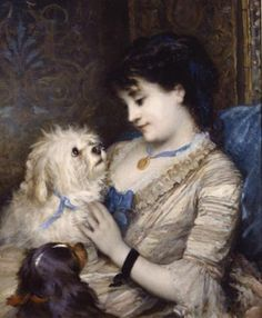 Albert Ludovici (1852-1932) - Treasured pets reminds me of Jules luv that doggie