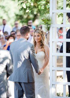 Lauxmont Farm Wedding #marybrunstphotography #vows #bridalparty #ceremony