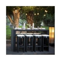 NEW PE Rattan Wicker Outdoor Chairs and Bar Table 9 Pieces YFF120 - Shop - YFF AUSTRALIA PTY LTD