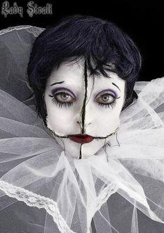 Страшный грим на Хэллоуин фото