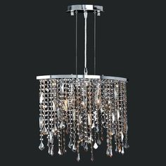 Worldwide Lighting Fiona 3 Light Crystal Pendant