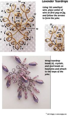 Jewelry Making Tutorials Lavender Teardrop Wire and Beads Necklace Jewelry Making Project made with WigJig tools and jewelry supplies. Bijoux Design, Schmuck Design, Jewelry Making Tutorials, Jewelry Making Supplies, Wire Crafts, Jewelry Crafts, Beaded Jewelry Designs, Handmade Jewelry, Dainty Jewelry