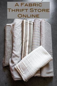 Sustainable fabric for thoughtful makers. A sewing thrift store online. Shop vintage, dead stock and de-stashed fabric.