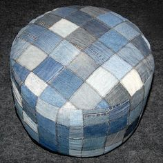 recycled jeans pouf pattern - Google leit