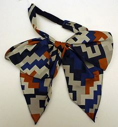 necktie (bow tie) c. 1970 / met collection---this would make an adorable headband.