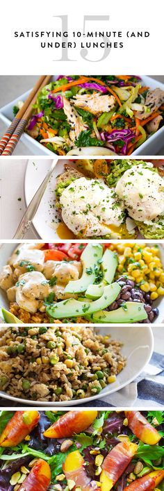 15 lunch ideas that are as tasty, and satisfying as they are easy to whip up.