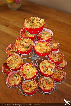 Mini - Party - Quiches  Deutsches rezept
