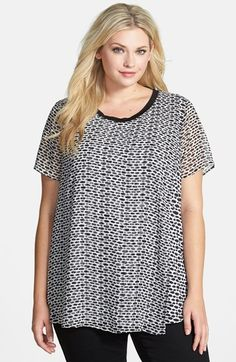 Free shipping and returns on Bellatrix Print Faux Wrap Woven Tee (Plus Size) at Nordstrom.com. The short-sleeve tee goes airy-light in a printed woven fabric with asymmetrical faux-wrap panels draping the front and back.