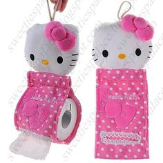 Hello Kitty Style Soft Plush Hanging Roll Toilet Paper Holder Tissue Cover for House - Pink Sanrio Hello Kitty, Hello Kitty Items, Sewing Art, Sewing Crafts, Sewing Projects, Hello Kitty Bathroom, Hallo Kitty, Kawaii Room, Hello Kitty Collection