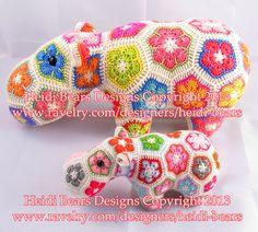 Fatty Lumpkin the Brave African Flower Pony Crochet by heidibears